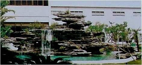 叠层假山结构