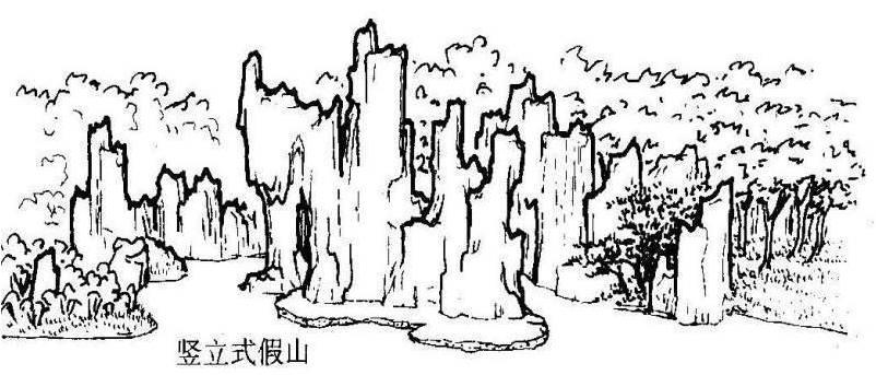 层叠式假山