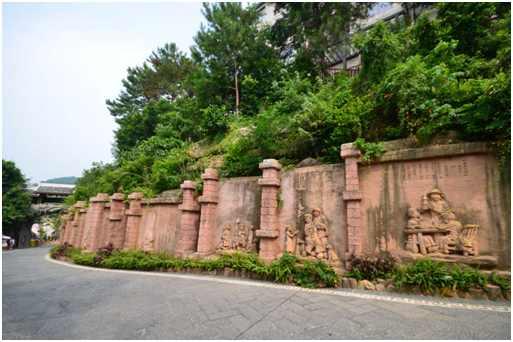假山石雕|风景文化墙|泥石假山|假山石刻