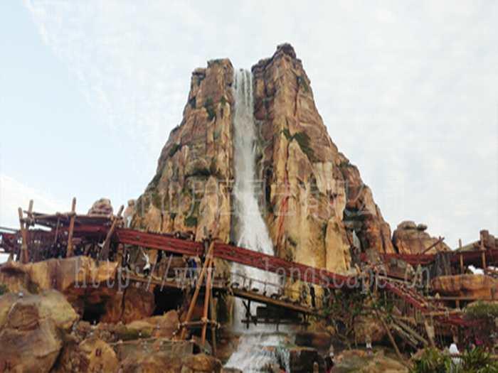 迪士尼瀑布景观